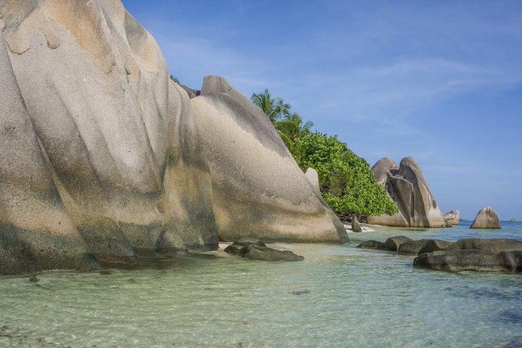 Seszele wyspa Praslin pusta plaża
