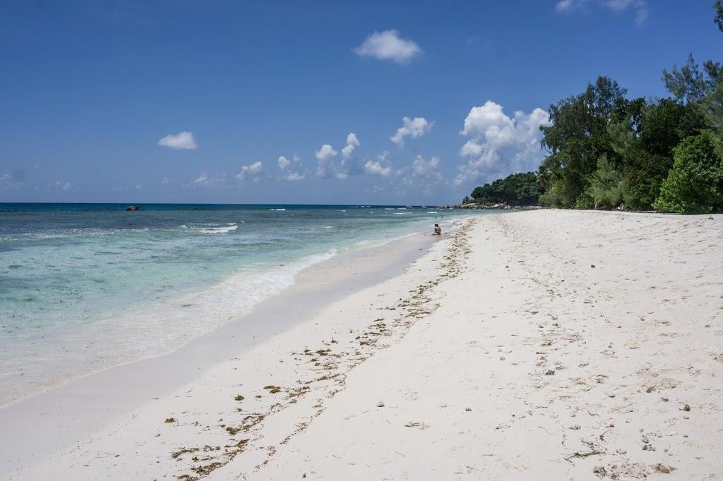Rajska plaża na seszelach zdjęcie bez filtra