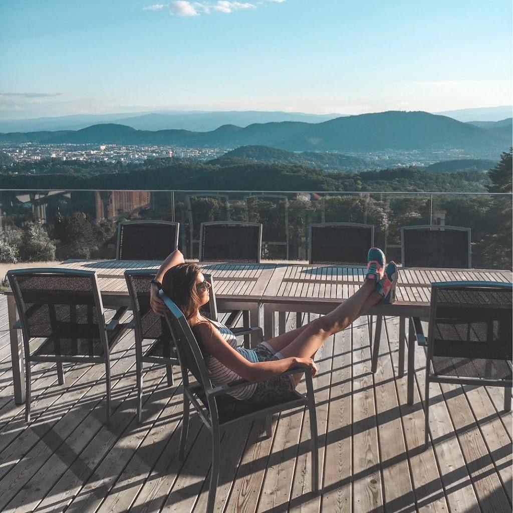 austriackie miasto Graz widok na góry