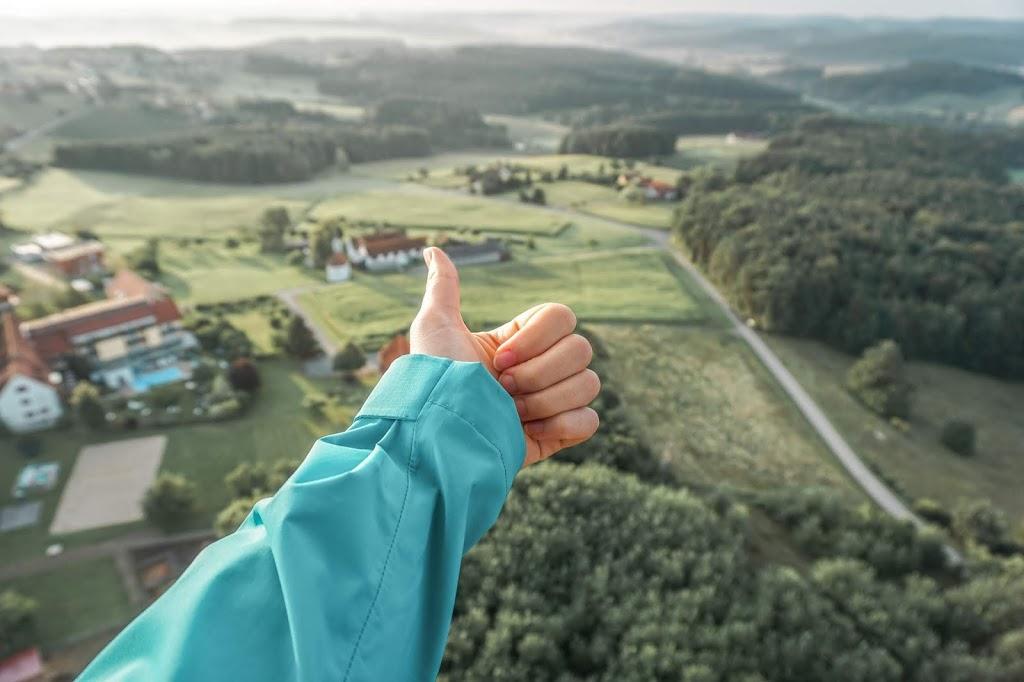 Lot balonem widok z lotu ptaka Austria
