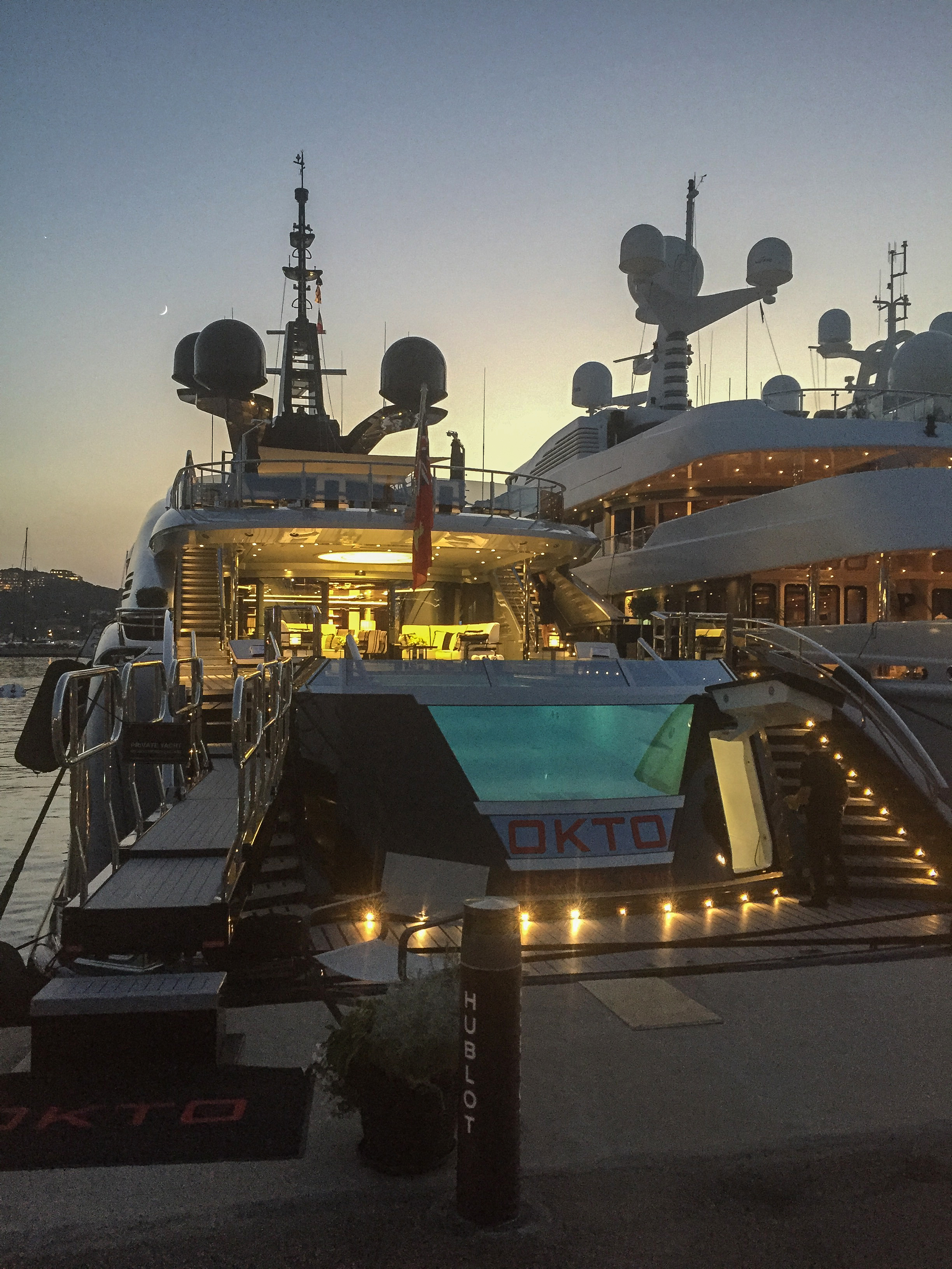 Porto Cervo luxury yachts with the pool