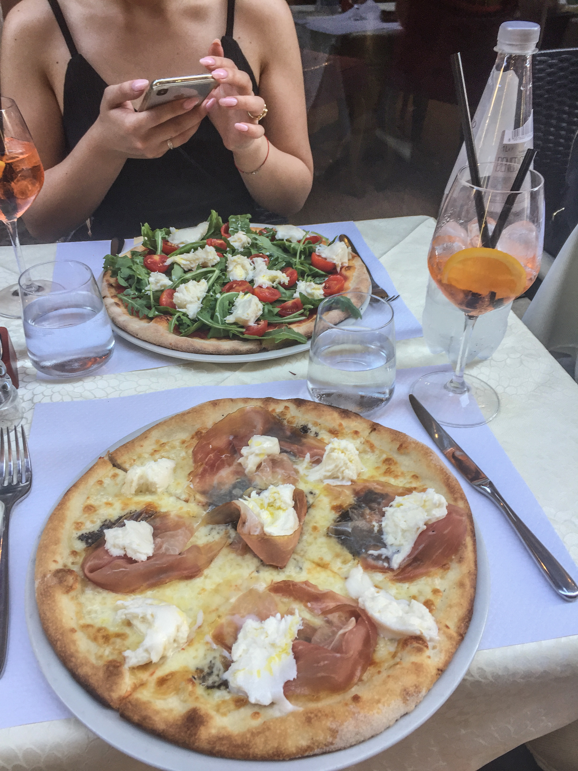 Truffle pizza in Rome