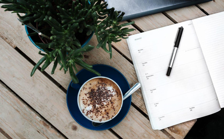 kawa i planner blog lifestylowy praca i życie w Austrii