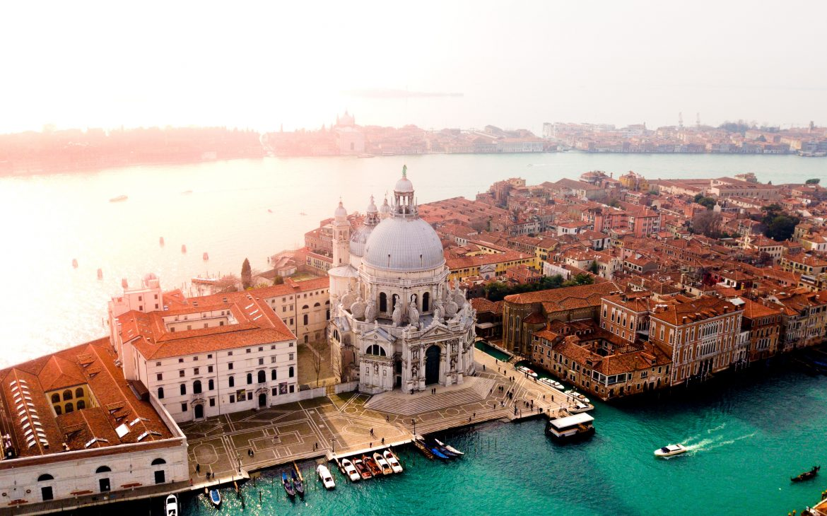 Venice view from the drone.