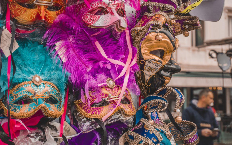 Carnival masks in Venice, Italy.