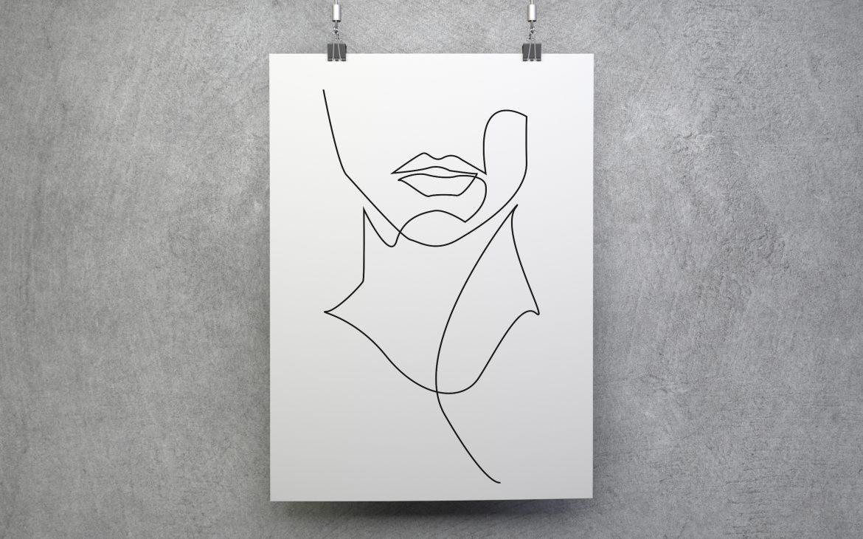 Darmowy plakat minimalistyczny skandynawski