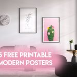 5 free printable modern posters