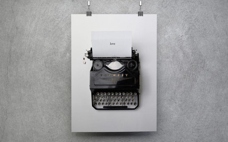Darmowy plakat skandynawski maszyna do pisania