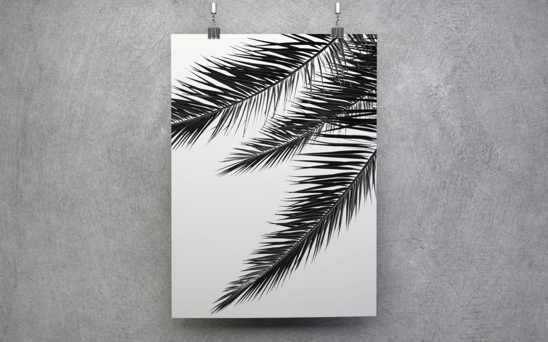 Darmowy minimalistyczny plakat do ściągnięcia palmy